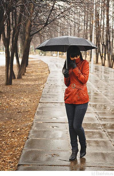Фотосессия с зонтом